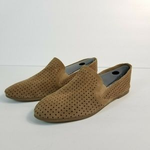 Lucky Brand Carthy Loafer Tan/Brown Suede Slip on